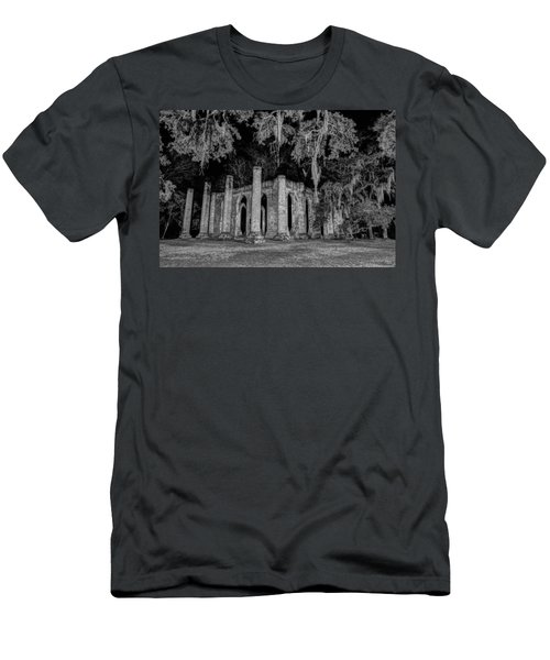 Old Sheldon Church At Night Men's T-Shirt (Athletic Fit)