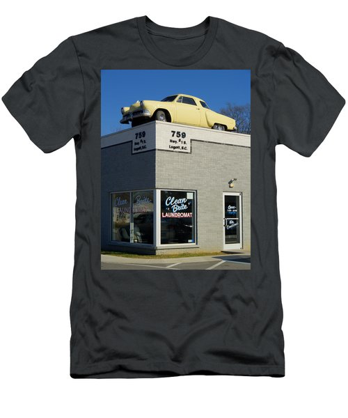 Old Studebaker Building Men's T-Shirt (Athletic Fit)