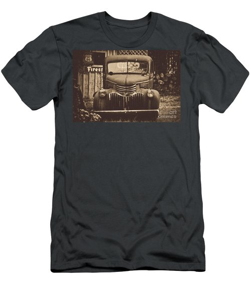 Men's T-Shirt (Slim Fit) featuring the photograph Old Times by Alana Ranney