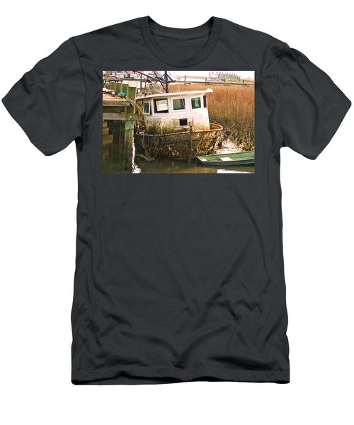 Old Tugboat By Jan Marvin Men's T-Shirt (Athletic Fit)