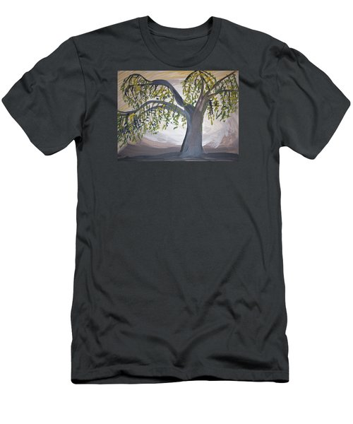 Old Willow Men's T-Shirt (Slim Fit) by Cathy Anderson