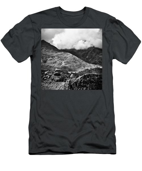 On The Mountainside Men's T-Shirt (Athletic Fit)