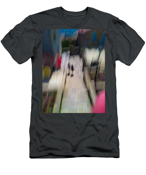 Men's T-Shirt (Slim Fit) featuring the photograph On The Stairs by Alex Lapidus