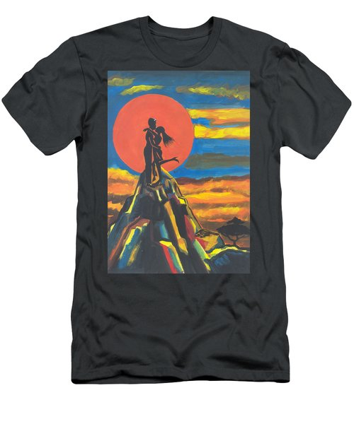 On The Summit Of Love Men's T-Shirt (Athletic Fit)