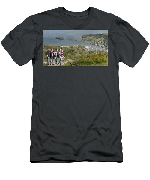 Men's T-Shirt (Slim Fit) featuring the photograph On Top Of Mount Battie by Daniel Hebard