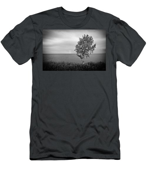 Men's T-Shirt (Athletic Fit) featuring the photograph One On One  by Doug Gibbons