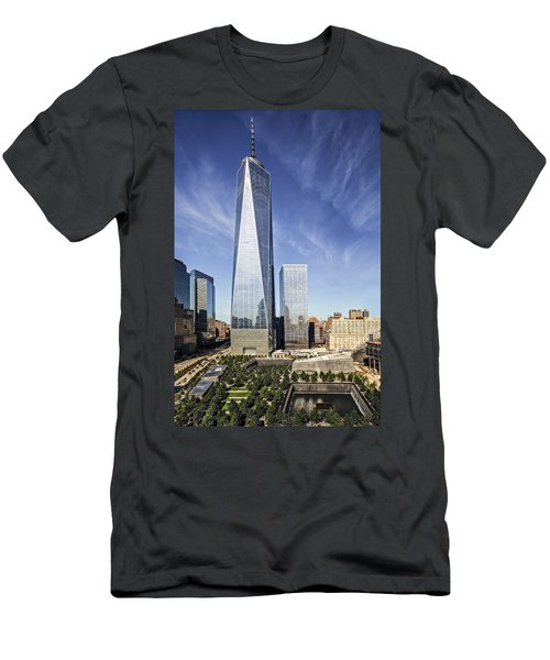 One World Trade Center Reflecting Pools Men's T-Shirt (Athletic Fit)
