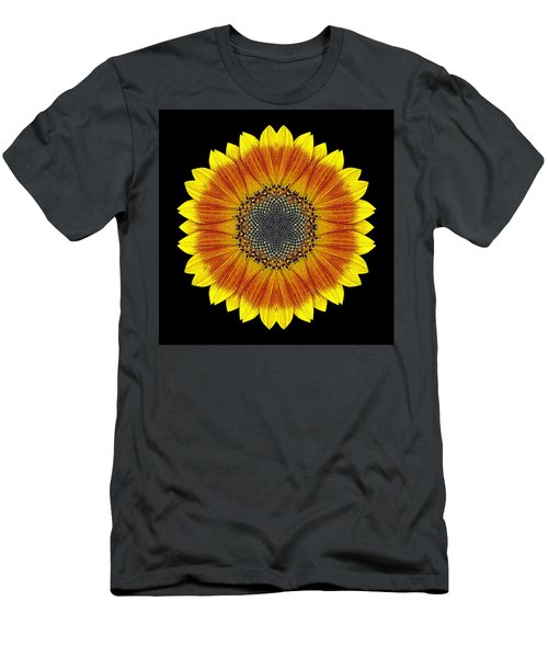 Orange And Yellow Sunflower Flower Mandala Men's T-Shirt (Athletic Fit)