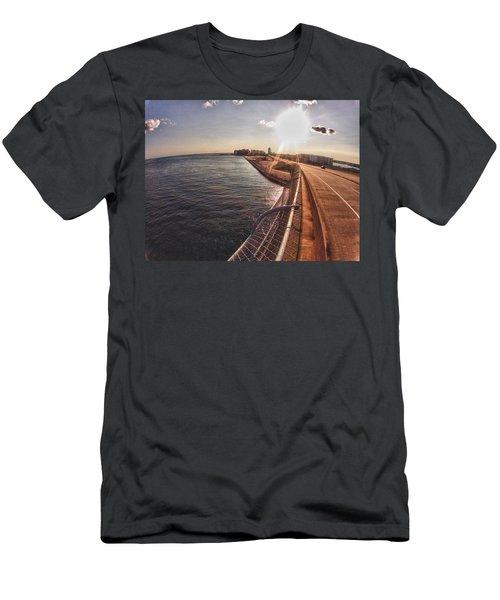 Orange Beach From Perdido Bridge Men's T-Shirt (Slim Fit) by Michael Thomas