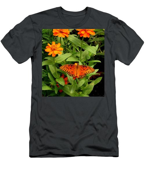 Orange Creatures Men's T-Shirt (Athletic Fit)