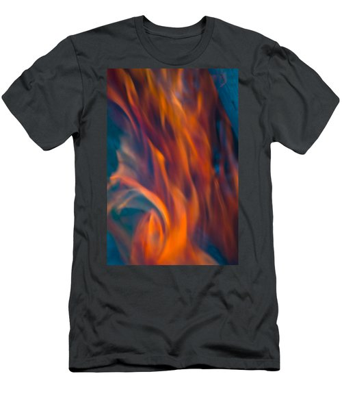 Orange Fire Men's T-Shirt (Athletic Fit)