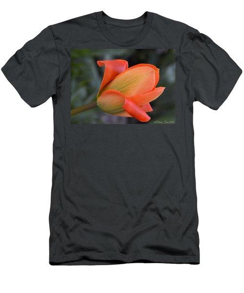 Orange Lady Men's T-Shirt (Slim Fit) by Felicia Tica