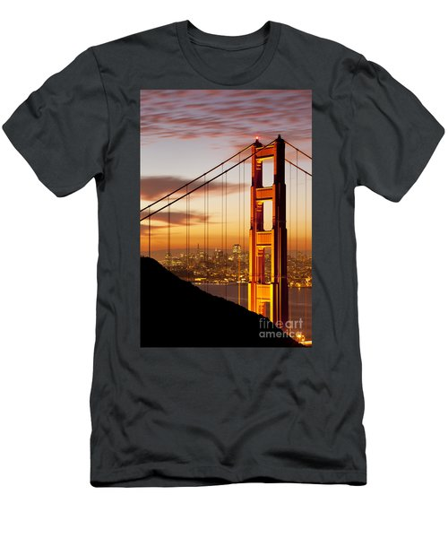 Men's T-Shirt (Athletic Fit) featuring the photograph Orange Light At Dawn by Brian Jannsen