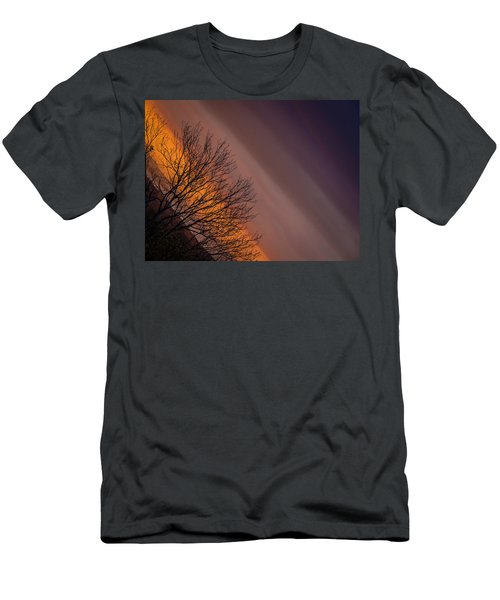 Orange Sunrise Men's T-Shirt (Athletic Fit)
