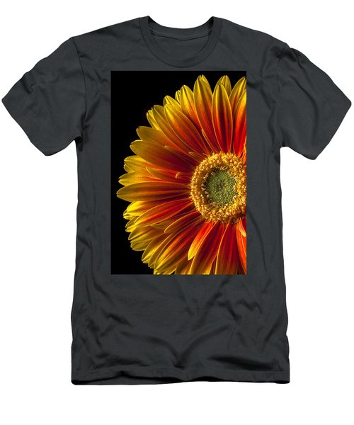 Orange Yellow Mum Close Up Men's T-Shirt (Athletic Fit)