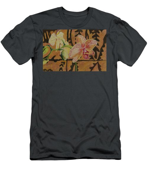 Orchid With Tapa Men's T-Shirt (Athletic Fit)