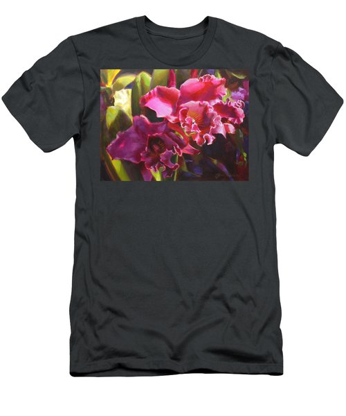 Orchids In Magenta Men's T-Shirt (Slim Fit) by Karen Whitworth