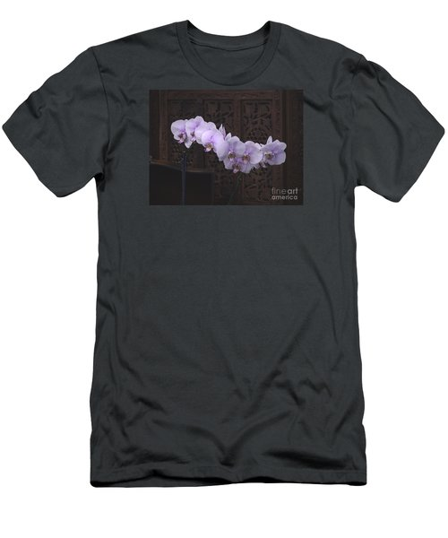 Men's T-Shirt (Slim Fit) featuring the photograph Orchids Loretta by The Art of Alice Terrill