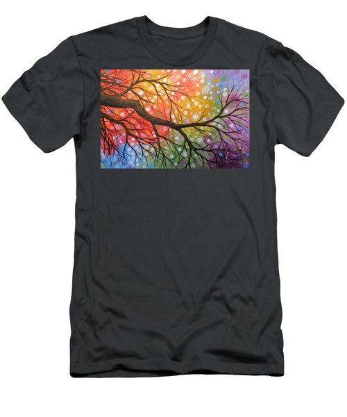 Original Abstract Painting Landscape Print ... Bursting Sky Men's T-Shirt (Athletic Fit)