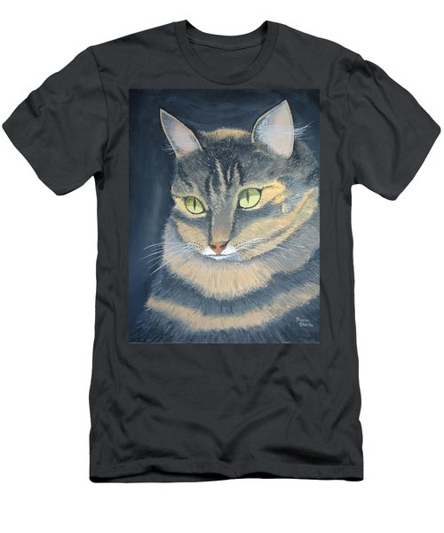 Original Cat Painting Men's T-Shirt (Athletic Fit)