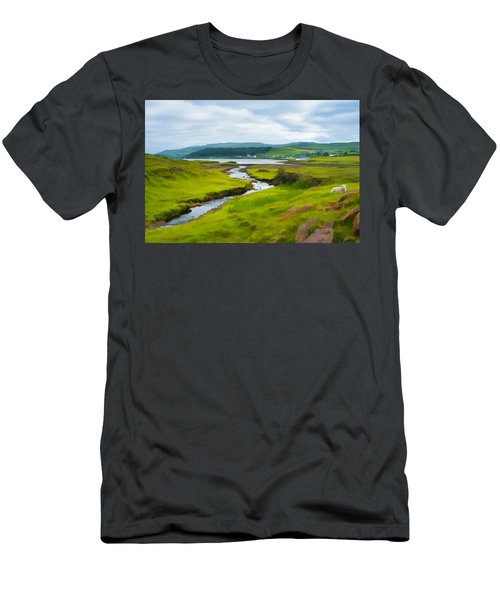 Osdale River Leading Into Loch Dunvegan In Scotland Men's T-Shirt (Athletic Fit)