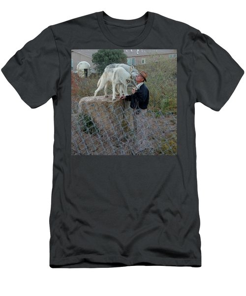 Out Of Africa  Friendly Wolves Men's T-Shirt (Athletic Fit)
