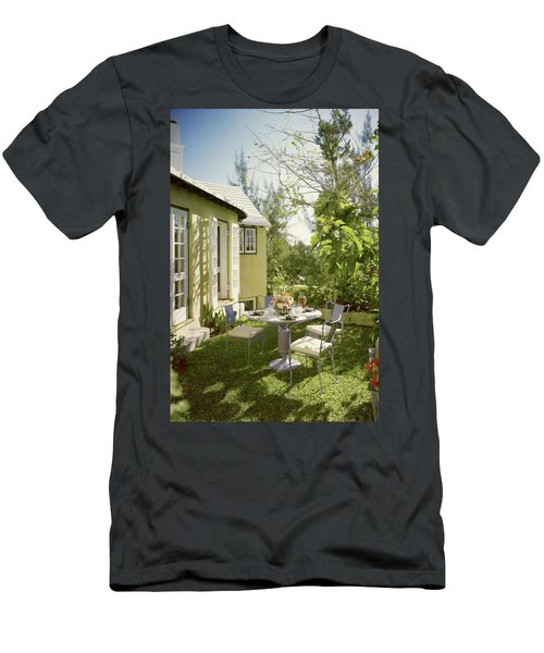 Outdoor Furniture At Shoreland House Men's T-Shirt (Athletic Fit)
