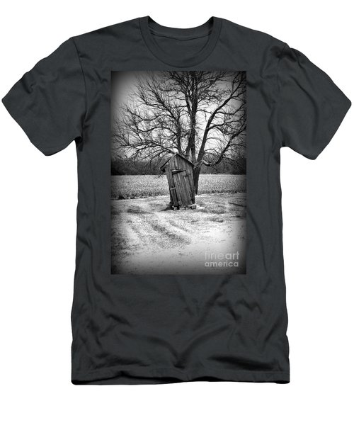 Outhouse In The Snow Men's T-Shirt (Athletic Fit)