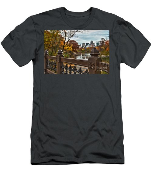 Overlooking The Lake Central Park New York City Men's T-Shirt (Athletic Fit)