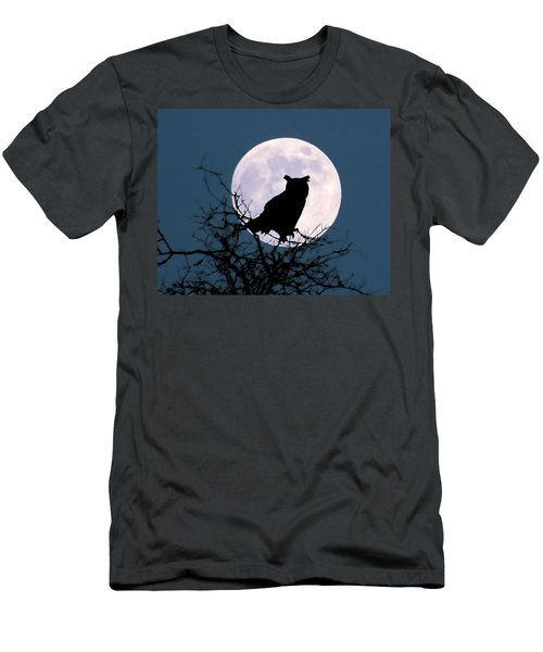 Owl And Blue Moon Men's T-Shirt (Athletic Fit)