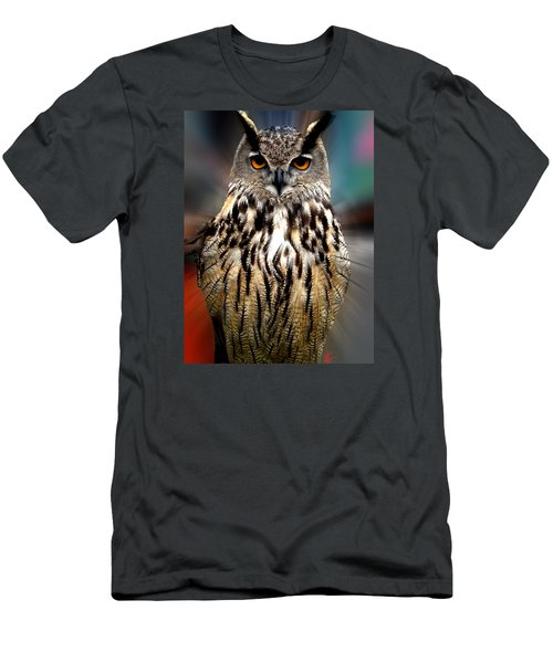 Owl Living In The Spanish Mountains Men's T-Shirt (Athletic Fit)