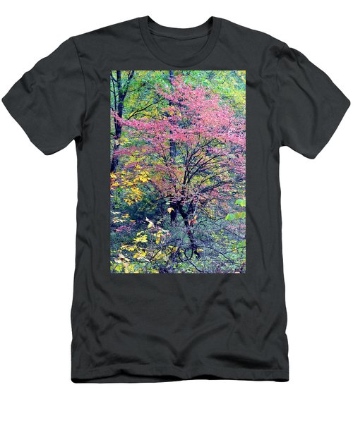 Men's T-Shirt (Slim Fit) featuring the photograph Ozarks Autumn by Deena Stoddard