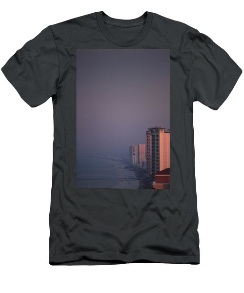 Panama City Beach In The Morning Mist Men's T-Shirt (Athletic Fit)
