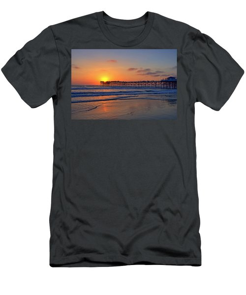 Pacific Beach Pier Sunset Men's T-Shirt (Athletic Fit)