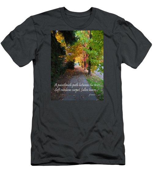 Paintbrush Path Men's T-Shirt (Athletic Fit)