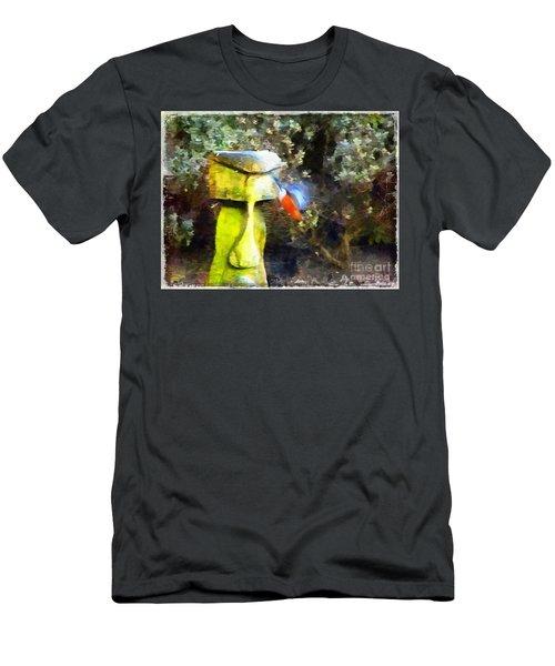 Painted Bullfinch S3 Men's T-Shirt (Athletic Fit)