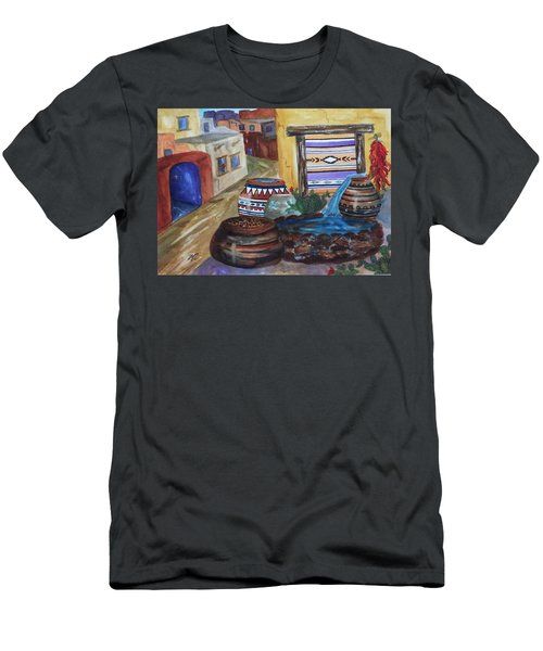 Painted Pots And Chili Peppers II  Men's T-Shirt (Athletic Fit)
