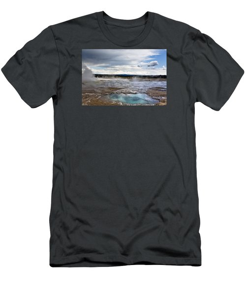 Men's T-Shirt (Slim Fit) featuring the photograph Paint Pots by Belinda Greb