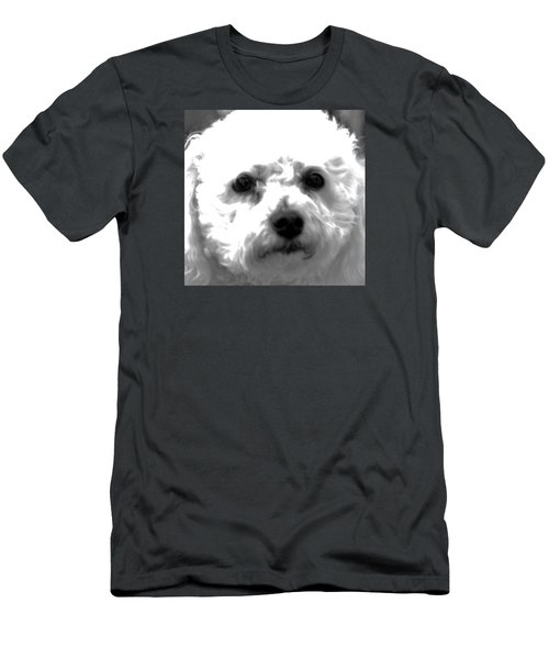 Men's T-Shirt (Slim Fit) featuring the photograph Painterly Bichon Frise by Patrice Zinck