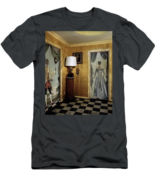 Paintings On The Walls Of Tony Duquette's House Men's T-Shirt (Athletic Fit)