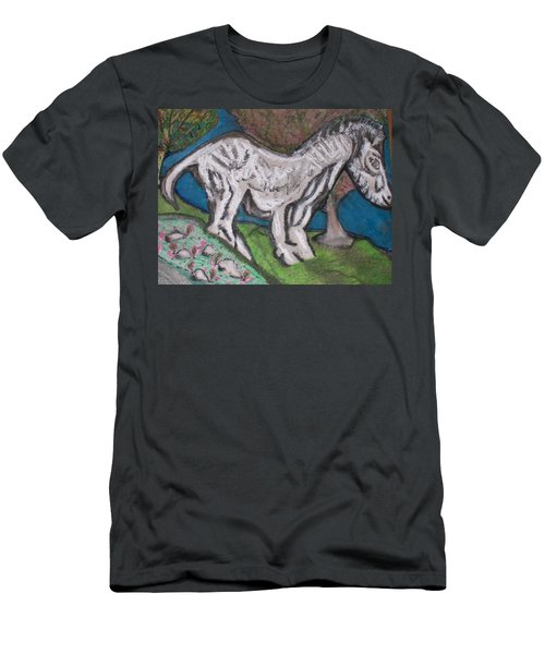 Men's T-Shirt (Slim Fit) featuring the painting Out There Alone. by Jonathon Hansen