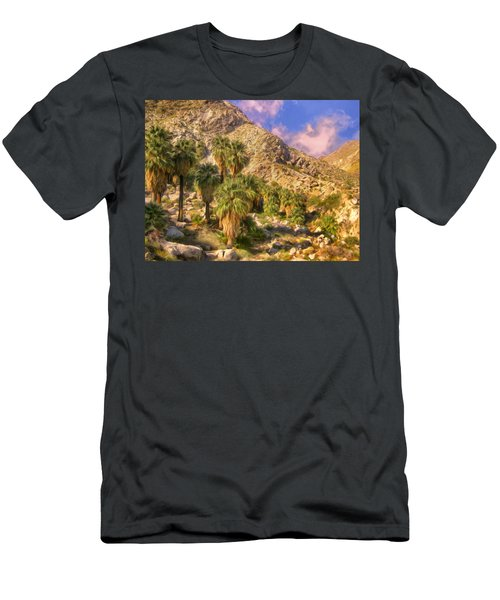 Palm Oasis In Late Afternoon Men's T-Shirt (Athletic Fit)