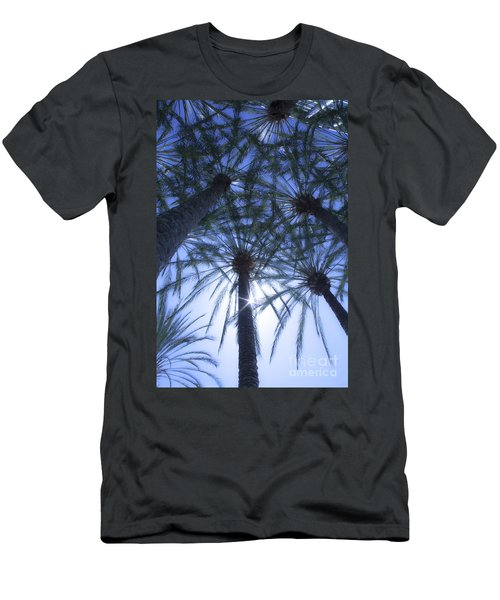 Men's T-Shirt (Slim Fit) featuring the photograph Palm Trees In The Sun by Jerry Cowart