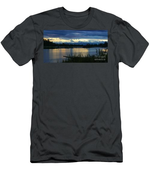 Pano Denali Midnight Sunset Men's T-Shirt (Athletic Fit)