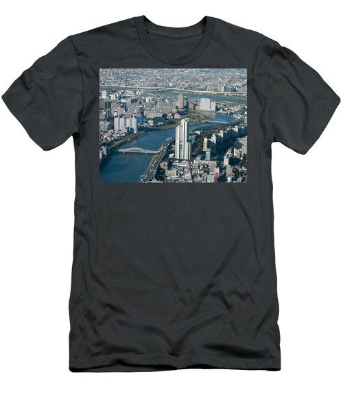 Panorama Of Tokyo Men's T-Shirt (Slim Fit) by Jill Mitchell