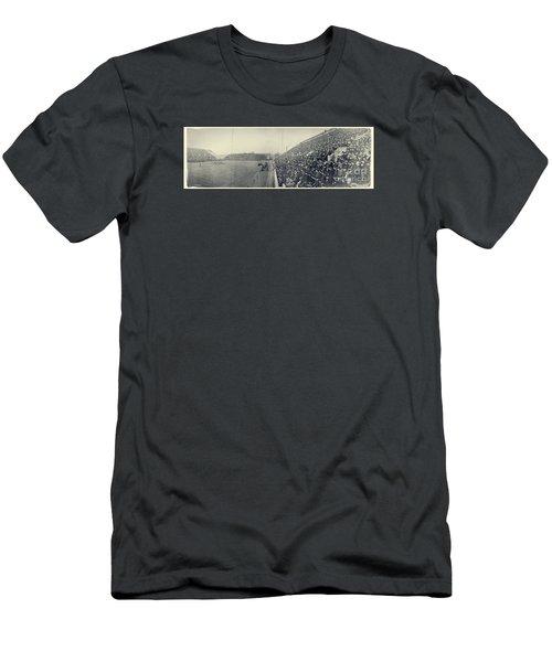 Panoramic Photo Of Harvard  Dartmouth Football Game Men's T-Shirt (Athletic Fit)