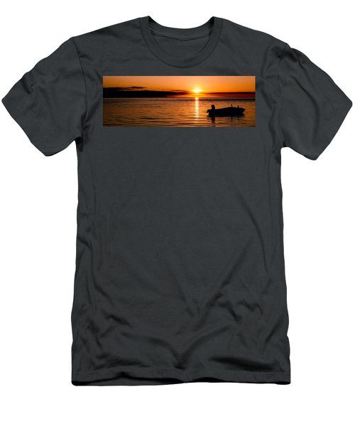 Panoramic Photo Of Sunrise At Monkey Mia Of Australia Men's T-Shirt (Athletic Fit)