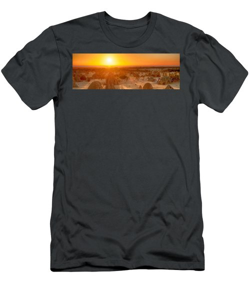 Panoramic Photo Of Sunset At The Pinnacles Men's T-Shirt (Athletic Fit)