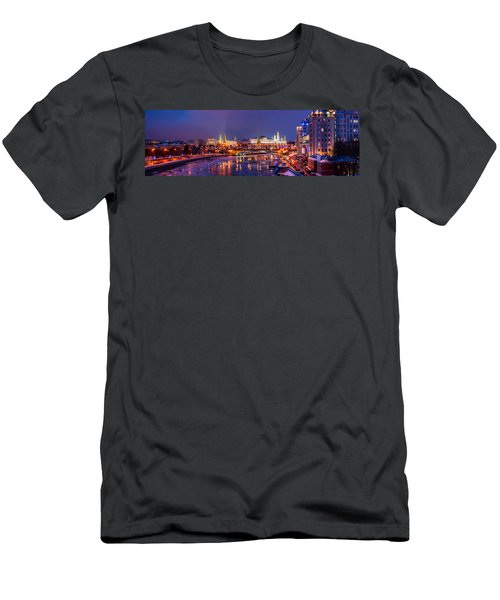Panoramic View Of Moscow River And Moscow Kremlin  - Featured 3 Men's T-Shirt (Athletic Fit)
