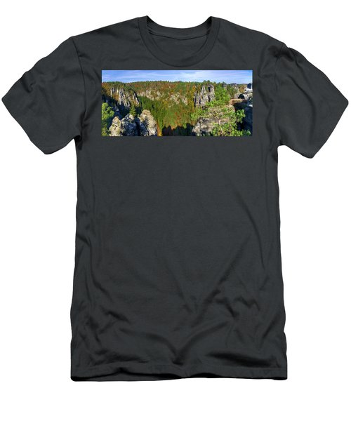 Panoramic View Of The Elbe Sandstone Mountains Men's T-Shirt (Athletic Fit)